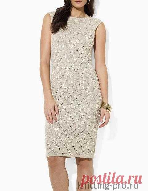 Вяжем ажурное платье, как у Ralph Lauren.