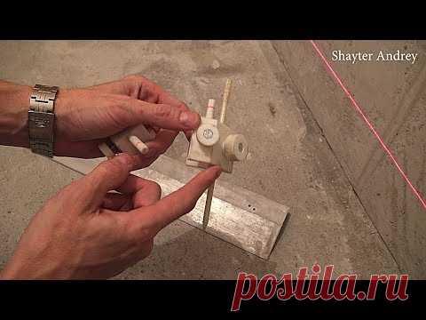 Стяжка пола без маяков, штукатурка, первый этап ремонта сан узла!