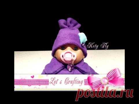 Как сделать шапочку для куклы - How to make an easy doll hat