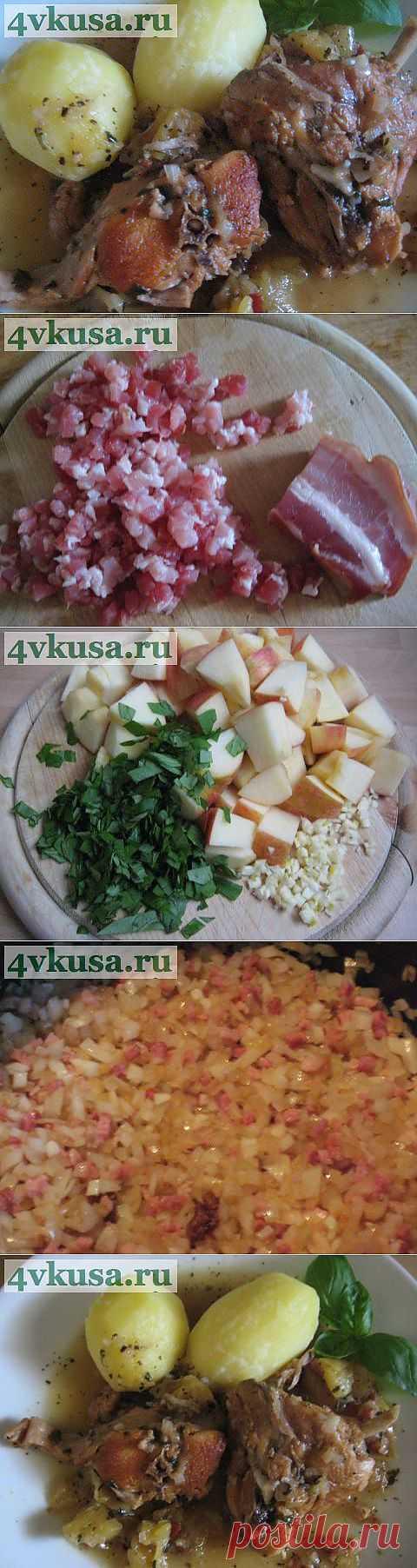 Кролик в яблочном вине. | 4vkusa.ru