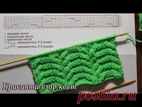 Beautiful pattern of a braid spokes | Cable stitches