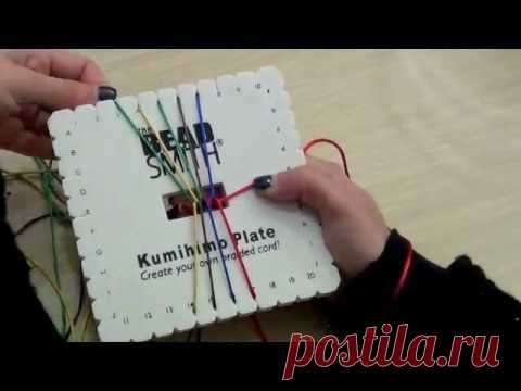 Kumihimo Treccia Piatta a 10 Fili | Tecniche - HobbyPerline.com
