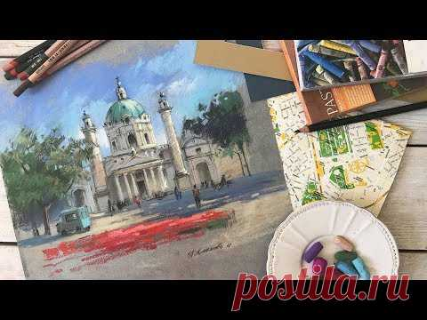 Landscape sketches a pastel with Irina Klimova