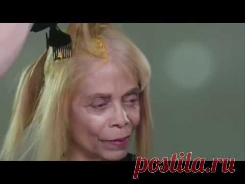 Ужасная прическа старила ее на 20 лет Парикмахер наколдовал — и женщина стала как богиня! - YouTube