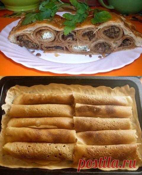 """Блинный пирог """"Поленница"""""""