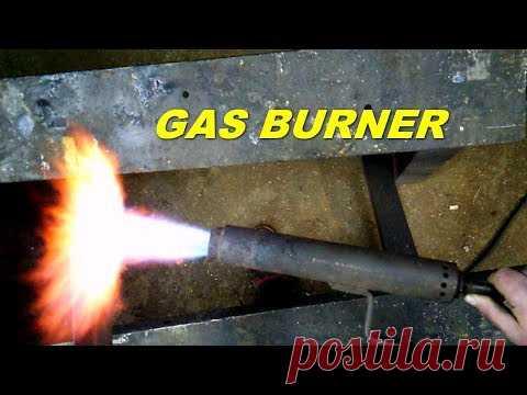 Инжекционная газовая горелка своими руками   homemade gas burner - YouTube