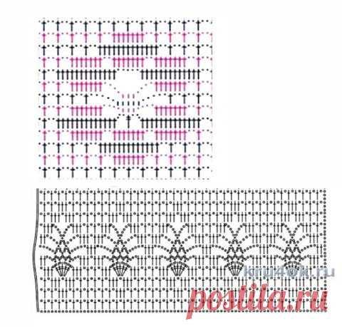 Филейные узоры крючком, больше 30 схем