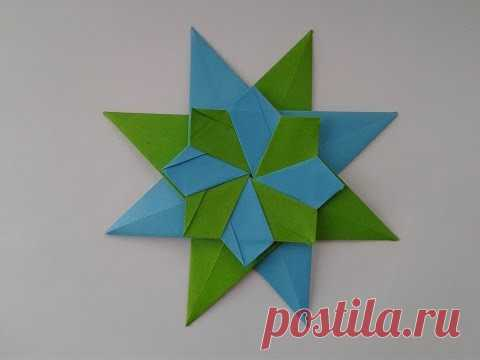 How to make the origami  Star Corona Grande оригами звезда