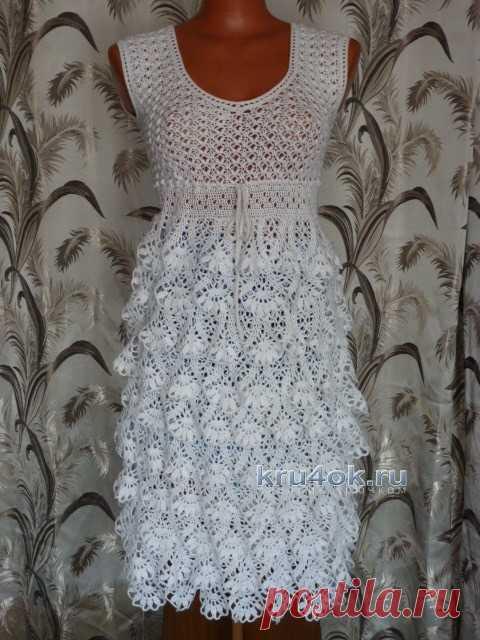 Вязаное крючком платье — работа Марины Ефименко
