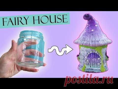 Polymer Clay Fairy House Jar Lantern    Maive Ferrando