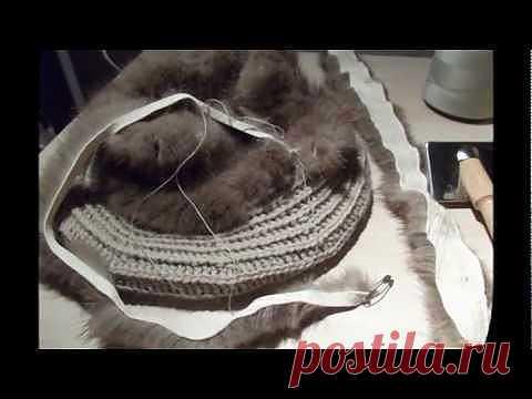 Вязание из меха.Видео..