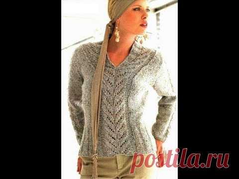 Вязание спицами. Пуловер.Описание+выкройка.