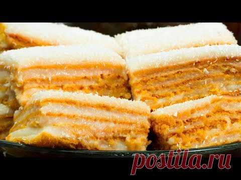 Вкус который покорил многих! Изумительное домашнее пирожное с кокосом. | Appetitno.TV
