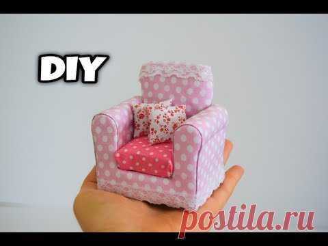 Minyatür Koltuk Yapımı   Kendin Yap Barbie Koltuk Yapımı