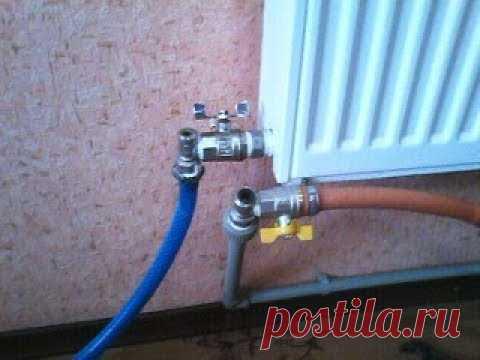 Промывка и чистка радиаторов , системы отопления , своими руками. Подготовка к зиме. - YouTube