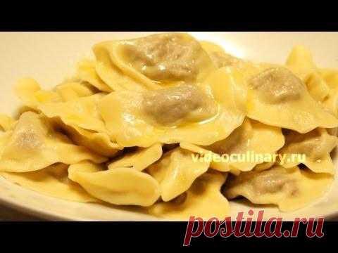 Рецепт - Вареники с мясом от http://videoculinary.ru - YouTube