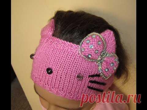ВЯЗАНИЕ СПИЦАМИ КРУТАЯ ПОВЯЗКА (КОШЕЧКА) ДЛЯ НАЧИНАЮЩИХ! knitting