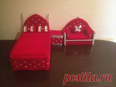 How to Make a DIY Doll sofa  from Old Clothes - Part 4