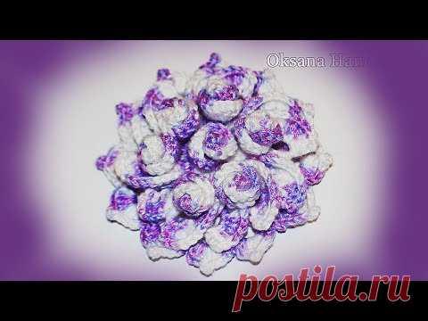 La flor decorativa por el gancho. El maestro la clase. DIY Bulk flower crochet fans
