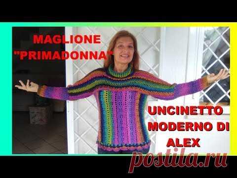 Maglione Uncinetto Primadonna Tutorial Tutte Le Taglie E Misure Di