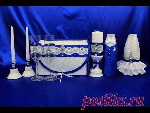 Свадебные наборы лентами и тканью