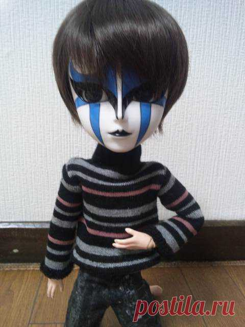 Свитер для куклы из носка