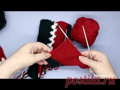 носки на двух спицах в подарок василиса вязание для детей постила
