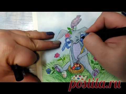 Простая и милая иллюстрация к Пасхе