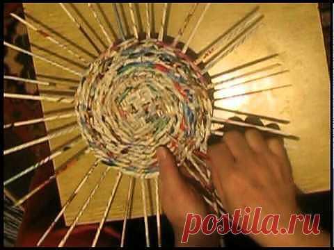 ▶ плетение из газет - YouTube