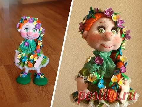 """La muñequita de armazón """"Веснушка"""" ¡- detallado MK por las peticiones de los suscriptores!"""
