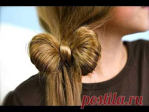 Как завязать бантики из волос (видео) / Прически / Модный сайт о стильной переделке одежды и интерьера