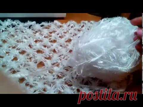 Шаль из Соломоновых петель крючком. Мастер-класс. Shawl crochet