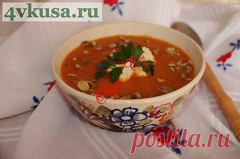 Суп-пюре из печеных баклажанов   4vkusa.ru