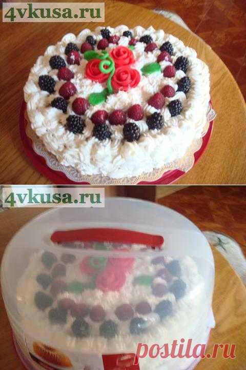 Ореховый торт под сливочным покрывалом.   4vkusa.ru
