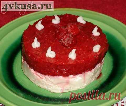 Ванильный чизкейк-лайт с ягодой | 4vkusa.ru