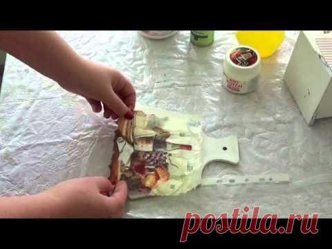 Decoupage for beginners. Listing. How to paste listing. MK Vilisova Olga. - YouTube