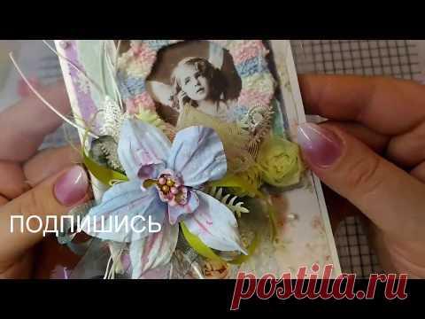 Простая открытка с одним цветком