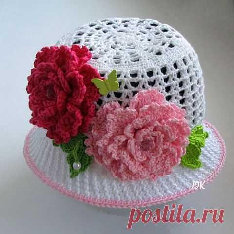 Модные вязаные шляпки