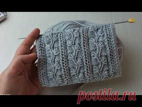 Çiçek bahçesi / Kolay yelek şal yapımı / Çeyizlik örgü modeli / easy knitting / einfach stricken