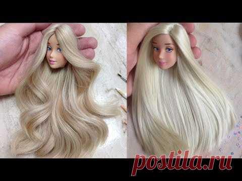 10 Amazing Barbie Hair Transformations ♡ Hair Tutorial for Barbie Doll ♡ DIY Barbie Doll Makeover