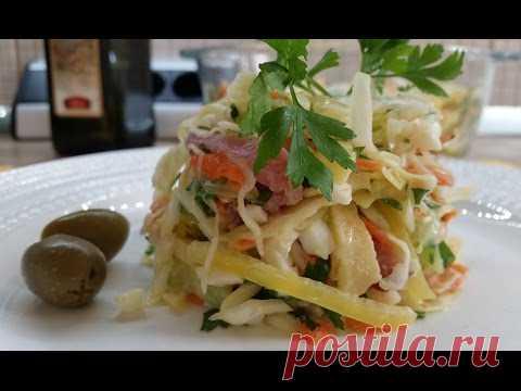 """""""ПЕРФЕТТО"""" salad; very tasty and fast recipe"""