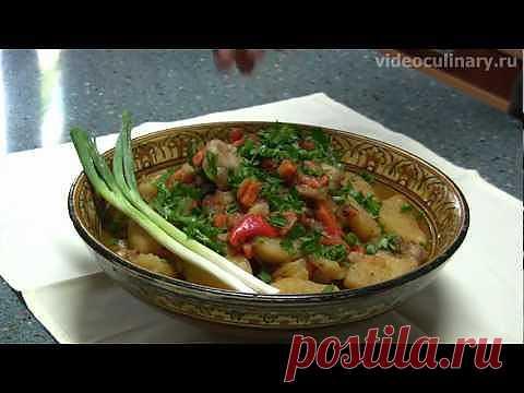 Жаркоп (мясо с картошкой) - Видеокулинария.рф - видео-рецепты Бабушки Эммы