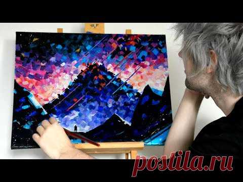 【Acrylic Landscape Painting】Easy for Beginners