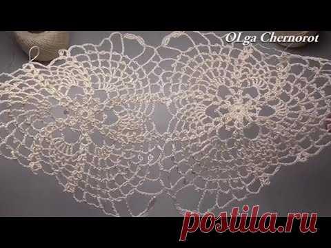 How to crochet EASY triangle lace motif Crochet pattern ТРЕУГОЛЬНИК КРЮЧКОМ ОЧЕНЬ КРАСИВО