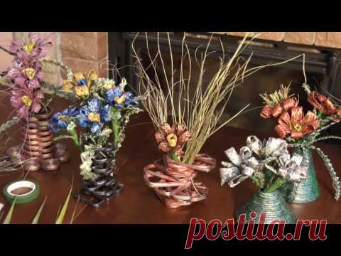 Creation of flowers from natural material