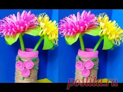 Сделать красивые цветы цветной бумаги своими руками ...
