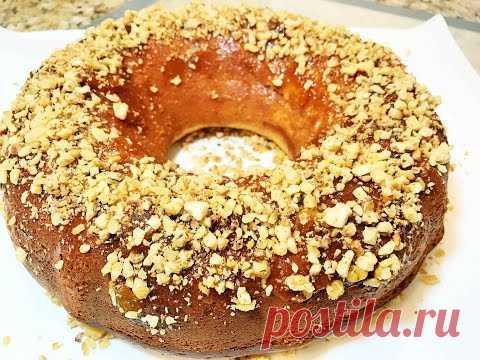 Домашний СМЕТАННЫЙ ПИРОГ за 5 мин + выпечка!  Безумно вкусный и простой! Sour Cream Cake
