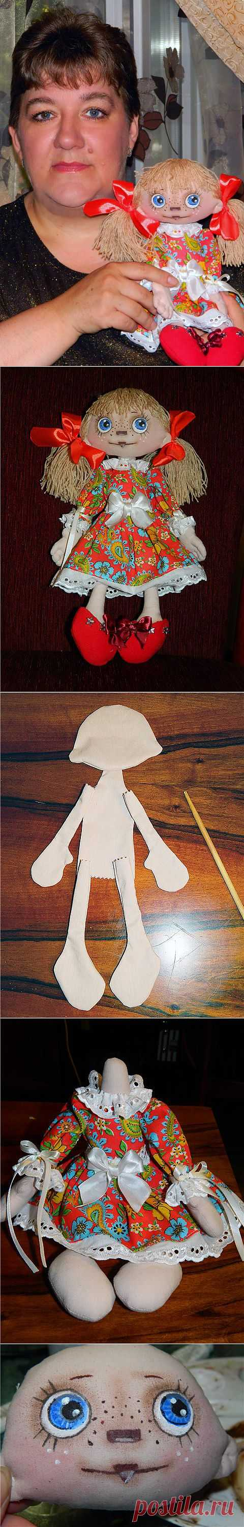 мк для начинающих. текстильная кукла....