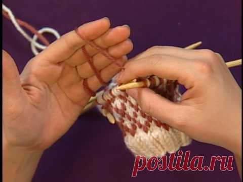 Jacquard without broaches. Managing Yarns for Colorwork - Knitting Daily TV Episode 306 with Eunny Jang - YouTube