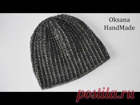 мужская шапка крючком за один вечер Mens Hat Crochet головные